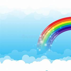 Rainbow Cloud And Sky Background 003 Stock Vector - Image ...