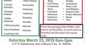 Cheat Sheet Of Champaign County  Hazardous Waste