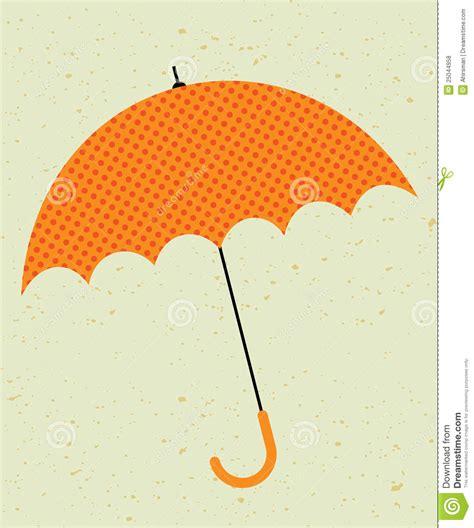 retro umbrella illustration stock vector image