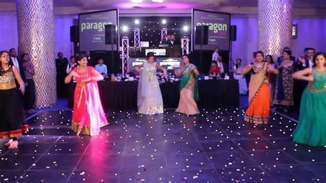 surprise indian wedding reception family dance kicked