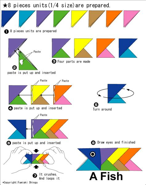 how to origami fish