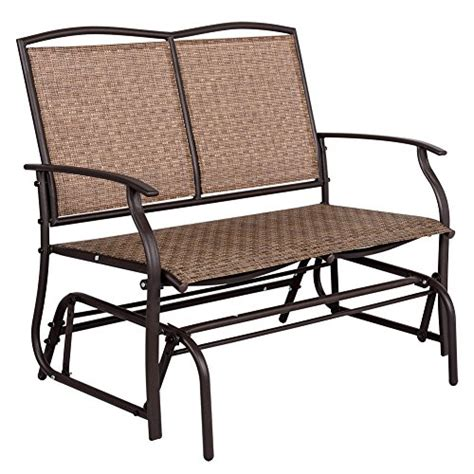 sundale outdoor 2 person loveseat glider bench chair patio