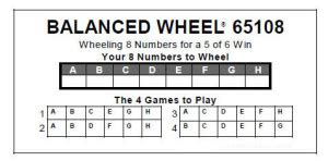 how to use past winning lottery numbers to beat the lotto 919   pick 6 wheel example 300x148