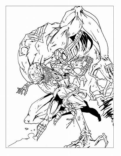 Spiderman Coloring Pages Comic Adults Comics Books