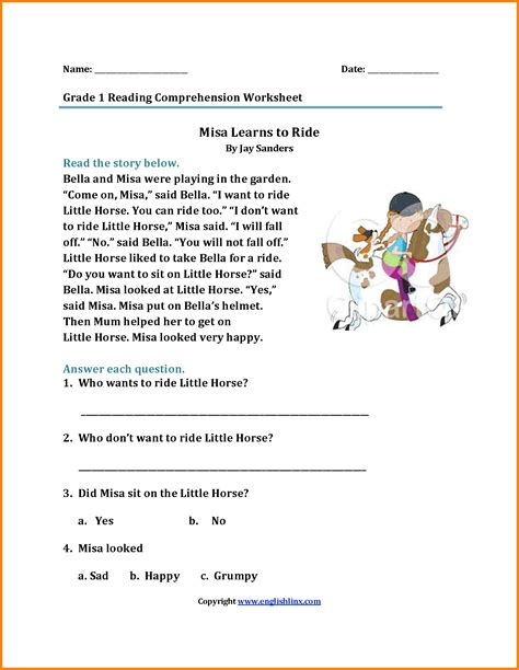 7+ First Grade Reading Worksheets  Cath Fordgroup