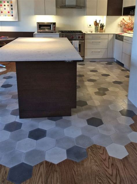 mosaic tile kitchen floor 36 eye catchy hexagon tile ideas for kitchens digsdigs 7867