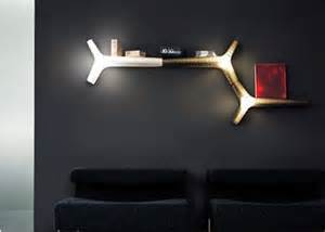 Wall Shelves with Lights