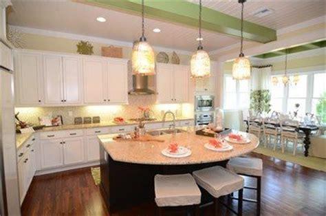 Awesome kitchen island. I really like the half moon shape