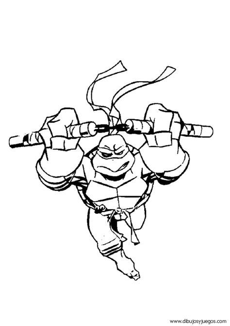dibujos tortugas ninja 075 Dibujos y juegos para pintar
