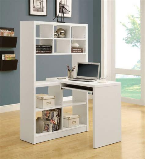 bureau avec rangement le bureau avec étagère designs créatifs