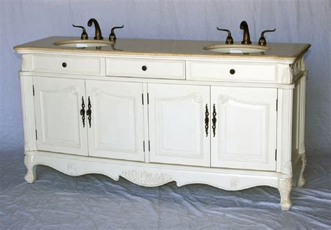 Inch Double Sink Antique Style Bathroom Vanity Antique