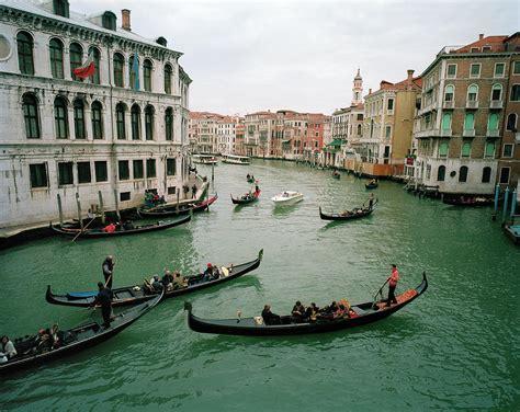 Italy, Venice, Grand Canal With Gondolas by Mark Horn