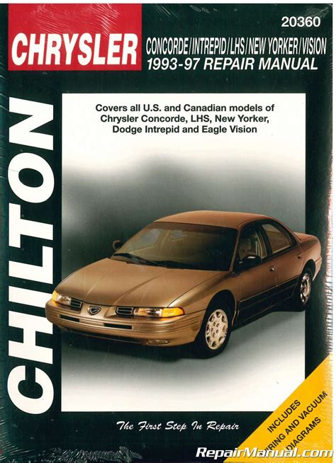 auto repair manual online 1996 chrysler concorde electronic throttle control chilton chrysler concorde intrepid new yorker lhs vision 1993 1997 repair manual