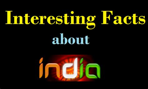 15 Interesting Facts About India You Didn't know ...
