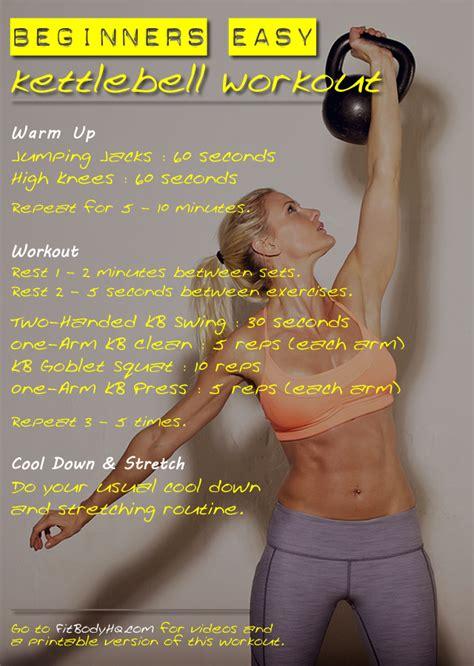 workout beginners kettlebells kettlebell guide workouts exercises beginner fitbodyhq kettle print easy bell bells gym