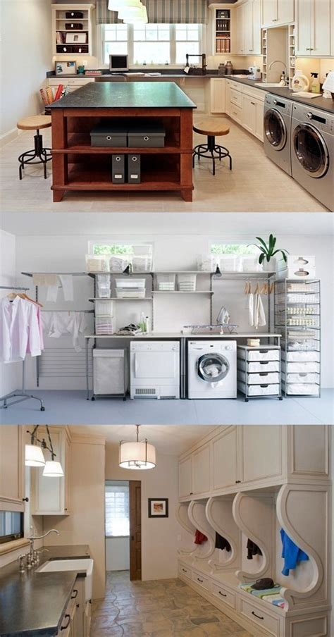 Space Saving Laundry Room Layouts and Decorations