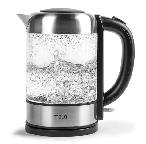 kettle water glass electric tea cordless molla quiet kettles temperature control kitchen boiling heat pots guide teakettle coffee ten buying