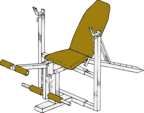 exercise bench clip art  clkercom vector clip art