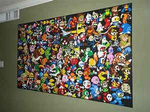 This LEGO Wall Mural is an Epic Tribute to Video Games