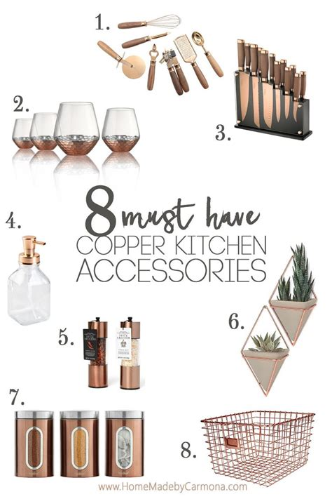 list of kitchen accessories best 25 copper kitchen ideas on copper decor 7131