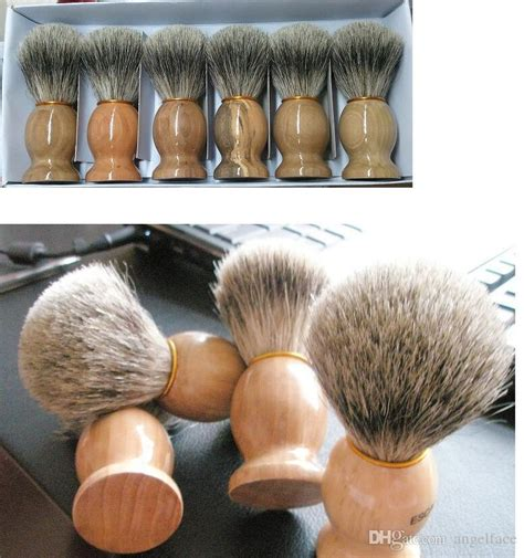 professional barber hair shaving razor brushes natural wood handle