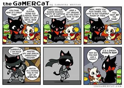 Gamercat Cat Snake Run Comics Gamer Thegamercat