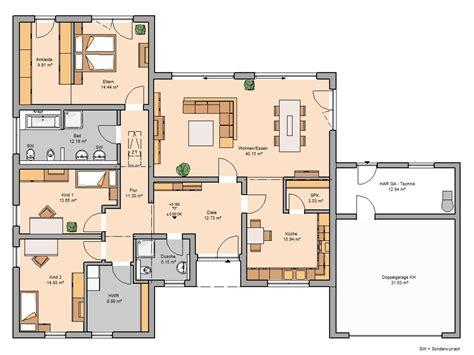 Grundriss Bungalow 3 Zimmer by Bungalow Trio Mit Garage Kern Haus