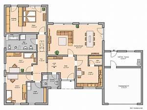 Modernes Haus Grundriss : bungalow trio mit garage kern haus ~ Lizthompson.info Haus und Dekorationen