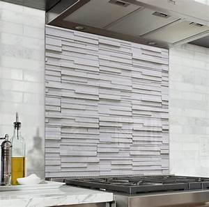Avenue De La Brique : fond de hotte effet brique blanche verre alu credence ~ Melissatoandfro.com Idées de Décoration