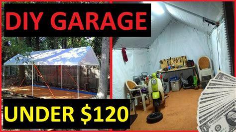 diy carport garage shelter storage recycled pallet floor