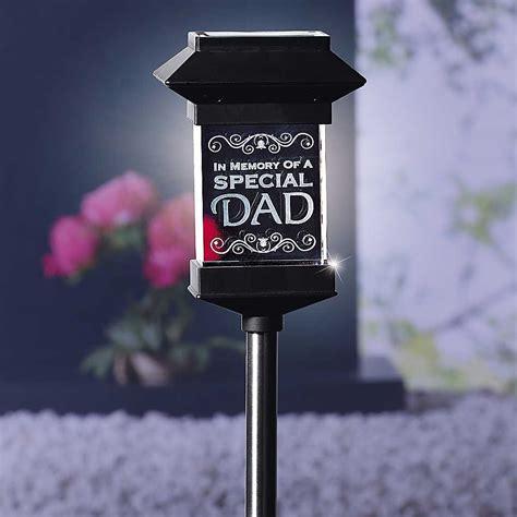 crystal solar powered  dad memorial light freemans