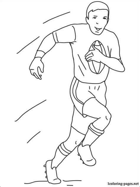 Rugby Kleurplaat by Rugby Coloring Page Coloring Pages