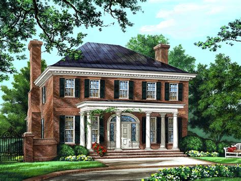 brick colonial house plans house plan 86225 at familyhomeplans com