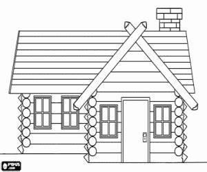 coloriage maisons a imprimer With dessin de maison en bois