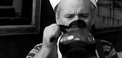 Coffee Bill Gifs Murray Drinking Getting Cigarettes