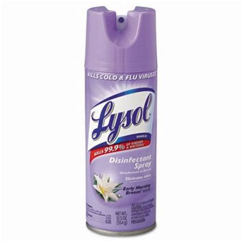 lysol brand iii disinfectant spray early morning scent 12 cans rec 80833