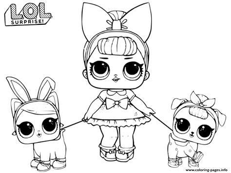 Lol Doll Fancy Baby Coloring Pages Printable