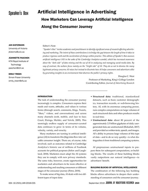 Artificial Intelligence in Advertising | the Journal of