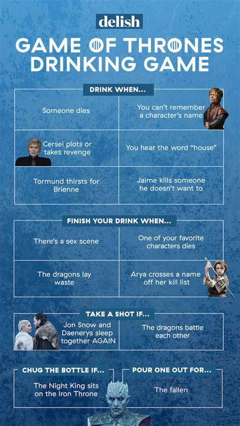 play  official game  thrones drinking game