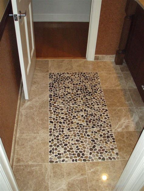 river rock tile floor 1000 ideas about river rock floor on pinterest wood plank tile river rock shower and rock shower