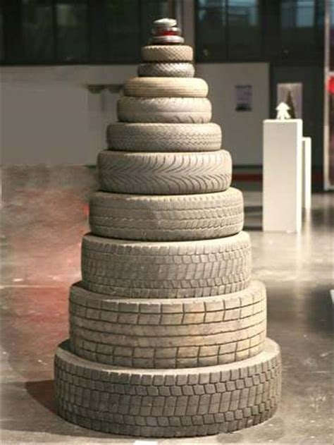 Christmas Tree Made of Tires