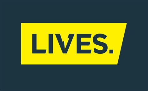 with a lives lives logo on navy lives