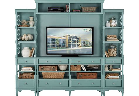 decorative pieces for shelves home seaside blue green 5 pc wall unit