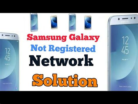how to fix samsung galaxy not registered on network