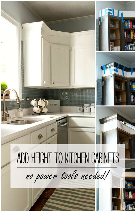 how to add height to kitchen cabinets power tools 598 f78eac8e01d19a3e1bdca1f151b67895