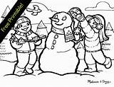 Coloring Winter Wonderland Printable Scene Themed Sad Sheets Snowman Clipart Playing Printables Snow Theme Doug Scenes Colouring Pollock Melissa Snowy sketch template