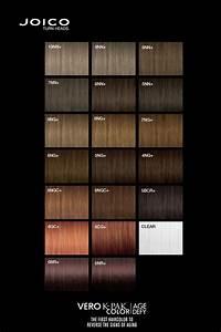 Age Perfect Hair Colour Chart Joico Vero K Pak Age Defy Colour Palette Color Charts
