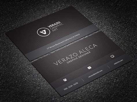black minimal business card business card templates