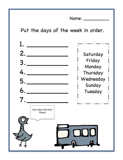 free printable days of the week worksheets days of the week worksheets activity shelter