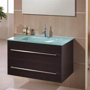 meuble vasque verre salle de bain With meuble de salle de bain avec vasque en verre